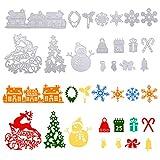 Naler 18 Troqueles Scrapbooking Navidad Troqueles Metal para Scrapbooking, Tarjetas, Álbumes de Recortes, Manualidades