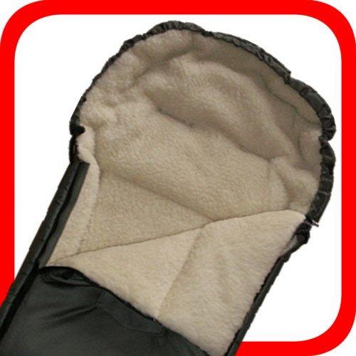 Baby Universal Fußsack, 100% Lammwolle, dunkelgrün