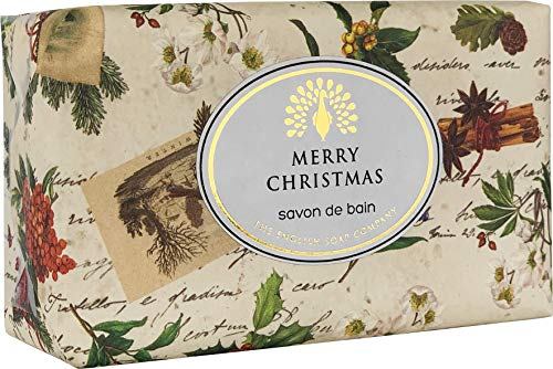 The English Soap Company, Vintage Wrapped Shea Butter Soap, Robin & Holly - Patchouli & Orange Flower, 200g