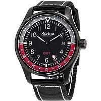 Alpina Geneve Startimer Pilot AL-247BR4FBS6 Reloj de Pulsera para Hombres Segundo Huso Horario