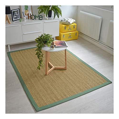 Decoweb zeeman tapijt Bihar - fijn Chevron, katoenen mantel, olijfgroen