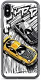 Roadiress TPU Pure Clear Compatibile con iPhone 11 PRO Max Case Initial D Style Artwork, RX7 vs AE86 Phone Cases Protection Cover