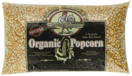 New 4204 Great Northern Popcorn Organic Yellow Gourmet Popcorn All Natural, 5 Pounds