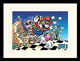 1art1 Super Mario - Bros. 3, Nintendo Gerahmtes Bild Mit Edlem Passepartout | Wand-Bilder | Kunstdruck Poster Im Bilderrahmen 40 x 30 cm