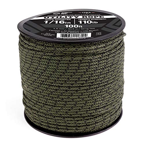 Atwood Rope MFG 1/16 Utility Cord 1.6mm x 300ft Reusable Spool | Tactical Nylon/Polyester Fishing Gear, Jewelry Making, Camping Accessories (Camo, 300)