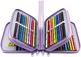 YOUSHARES 72 Slots Pencil Case - Handy Large Capacity Oxford Multi-Layer Zipper Pencil Bag for Color Pen, Colored Pencils, Watercolor Pens, Makeup Brush, Cosmetic Brushes, Gel Pen, etc (Purple)