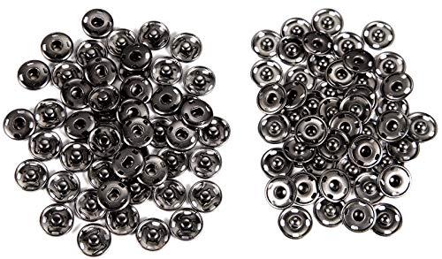 50PCS Druckknöpfe Zum Annähen Druckknopf Metall Ideal für Verschluss von Geldbeutel Handtasche Kleider Nähhandwerk (15mm)…