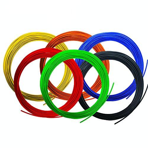 Polaroid FILKITRBW Rainbow PLA Filament Kit, 1.75 mm Diameter. Red, Blue, Green, Yellow, Orange, Black (195 Linear Feet Total)