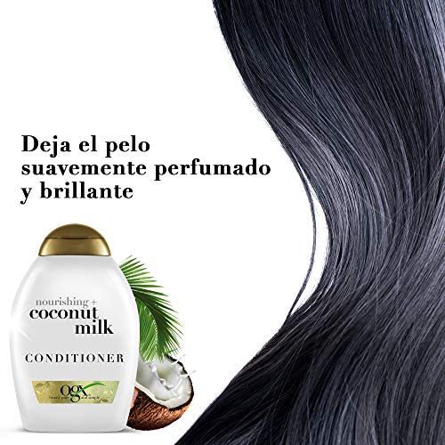 OGX, Acondicionador Leche de Coco, Cabellos Secos, 385 ml