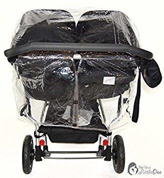 Protector de lluvia Compatible con Mountain Buggy Duet – Carrito doble (213)