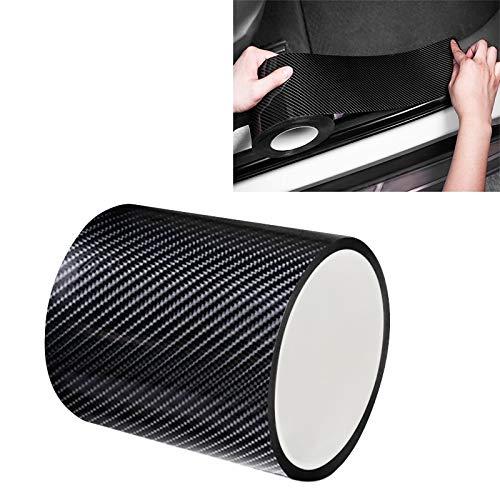GANK TXV Fibra di Carbonio ATYC Universal Car Door anticollisione Strip Protection Protegge assetta Adesivi Nastro, Dimensioni: 10cm x 5m