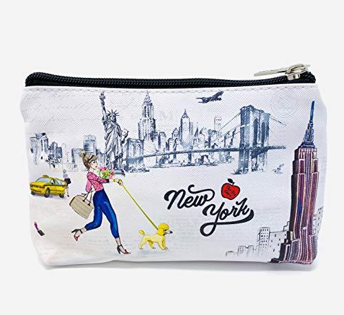 Girls & Women Fashion Cute New York Souvenir Zipper pouch Travel Cosmetic Bag Makeup Purse (JP-330104H)