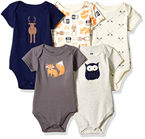 Hudson Baby Unisex Cotton Bodysu...