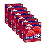 Skout Organic Raspberry Rush Real Food Bars for Kids (36 Pack) | Organic Snacks for Kids | Plant-Based Nutrition, No Refined Sugar | Vegan | Gluten, Dairy, Grain & Soy Free