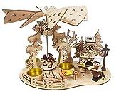 SEEAS Pyramide mit Räucherhaus BÄCKEREI - XL 32 cm - wunderschöne Weihnachts-Teelicht-Pyramide mit Bäcker-Räucherhaus