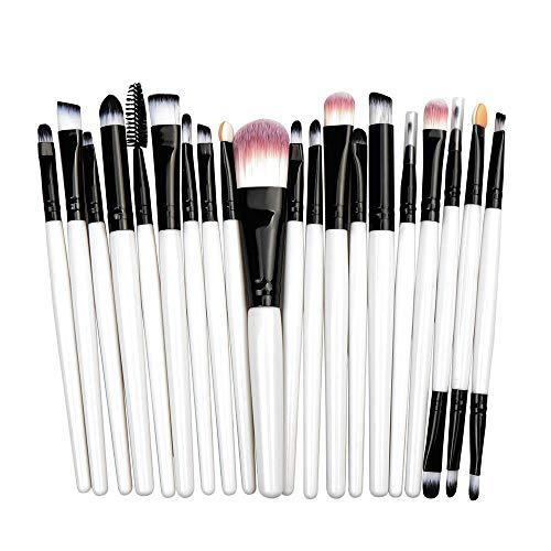 Maquillage Pinceau Professionnel Fard À Paupières Fondation Pinceau Pour Les Lèvres, Blanc + Noir