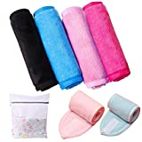BHAHAI - Paños de Limpieza para Maquillaje (4 Unidades, Reutilizables, Microfibra), Multicolor, Set 1