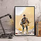 MKAN Leinwand Bild Poster, Clint Eastwood Leinwand Malerei
