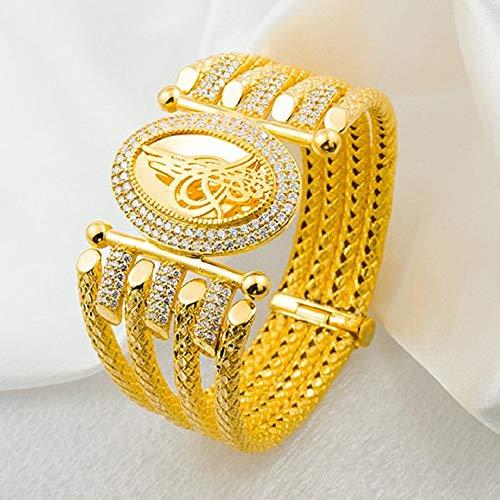 Ablamshop/Armband Kaburga Altin Bileklik Gold Armband 22 Karat Vergoldet Bolywood Schmuck / 6,4 cm