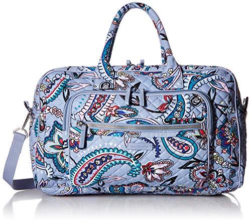 Vera Bradley Women's Iconic Signature Cotton Compact Weekender Travel Bag, Makani Paisley, One Size