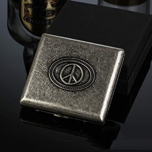 CHENG Retro Kreativität Zigarettenetui tragbare ultradünne Starke haltbare Zigaretten-Box kann 20 halten,Color3,91X87X20MM