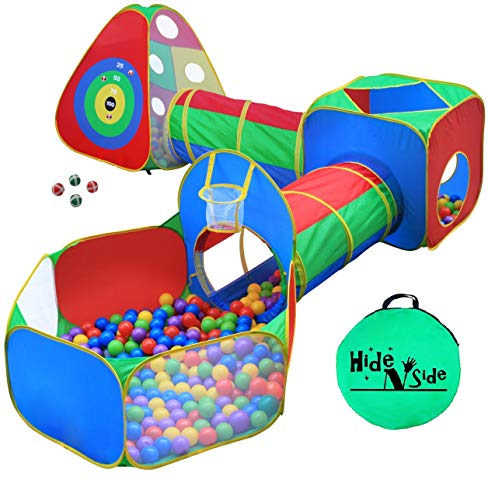 5pc Kids Ball Pit Tents and Tunnels, Toddler Jungle Gym Play Tent with Play...