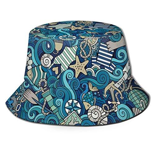 Sombreros de Cubo Elementos náuticos Brújula Helm Barco...