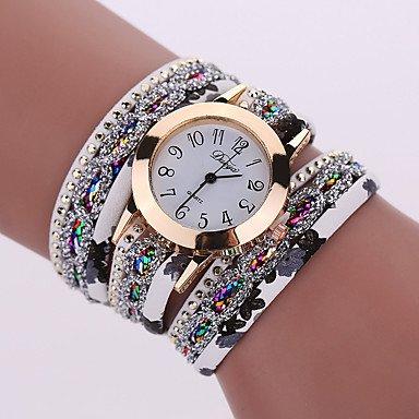 XKC-watches Herrenuhren, Damen Modeuhr/Armbanduhr / Halskettenuhr/Armband-Uhr Quartz Mehrfarbig Legierung BandVintage/Glanz / Böhmische/Bettelarmband /