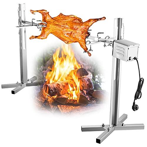 TOPQSC BBQ Elektrogrill Rotisserie Kits...