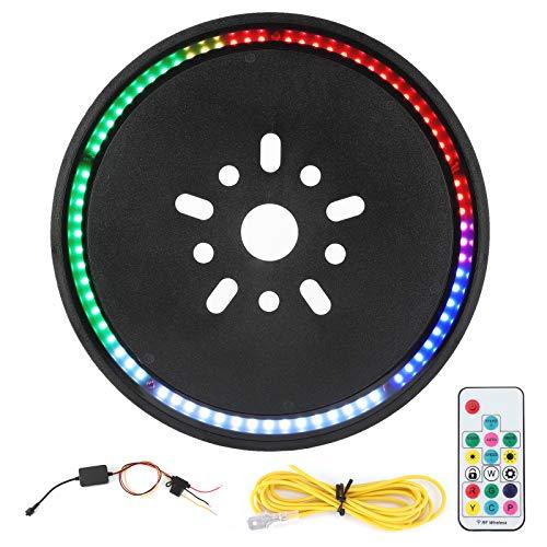 Aramox Luz de repuesto para llanta, luz de freno LED RGB 300LM Lámpara de advertencia de marcha atrás de llanta de repuesto para JK/JL 2007-2020
