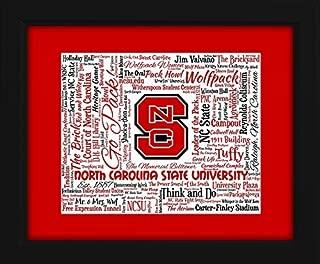 North Carolina State University (NCSU) 16x20 Art Piece - Beautifully matted and framed behind glass