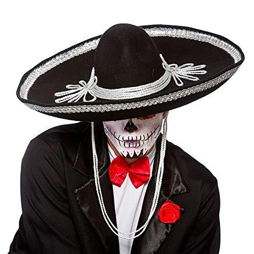 HalloweenAroundCorner.com Large Black Mexican Mariachi Sombrero Party HAT
