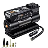 TACKLIFE M1 Tire Inflator, DC 12V Mini Digital Air Compressor Pump with Precision Gauge, 4 Nozzle Adaptors and Extra...