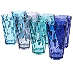 Made in the USA | 20-ounce maximum capacity | BPA-free Shatterproof tumblers perfect for indoor dining | use on the patio for picnics and other outdoor meals Reusable cups durable for everyday use | top rack dishwasher safe 6-1/4-inches tall, 3-1/2-i...