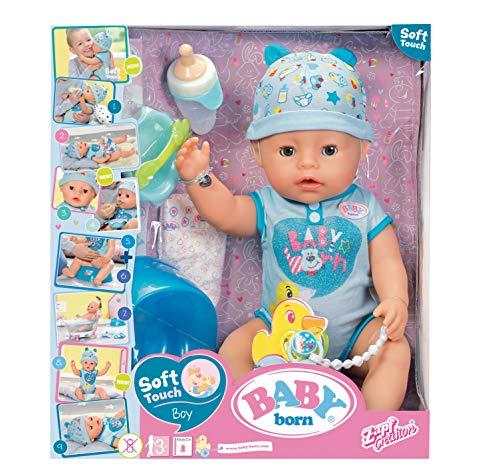 Baby Born 30880 Puppe, interaktive Baby-Born, 9 Funktionen und 11 Zubehörteile