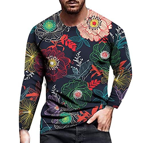 ERNUMK Camiseta básica de manga larga para hombre, camiseta de manga larga para senderismo, correr, camiseta...