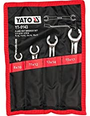 Yato ringnyckel sats 4 st. halvöppen, 8–17 mm mullringnyckel inkl. väska
