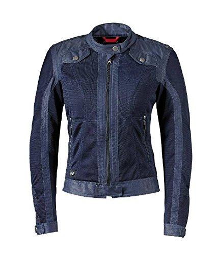 BMW Genuine Motorcycle Women Ladies Venting Denim/Mesh Riding Jacket Size 40