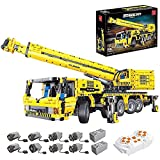 BIANGEY T4004 Building Block Crane, versión dinámica del Kit de ensamblaje del Modelo de vehículo de ingeniería eléctrica, Compatible con la tecnología Lego
