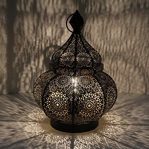 Casa Moro Orientalische Tischlampe Asif Höhe 30 cm in schwarz mit E14 Fassung | Nachttischlampe aus Metall wie aus 1001 Nacht | Schöne Weihnachtsbeleuchtung Dekoration | LN2070