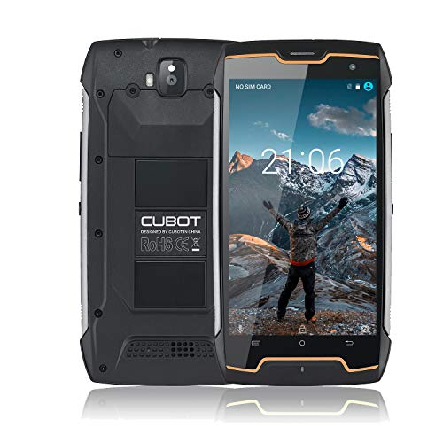 CUBOT King Kong CS Android 10 Rugged Smartphone IP68, Antipolvere, Antiurto, Display 5 Pollici, 4400mAh Batteria, Dual SIM, 2GB RAM +16GB ROM, Outdoor Cellulare
