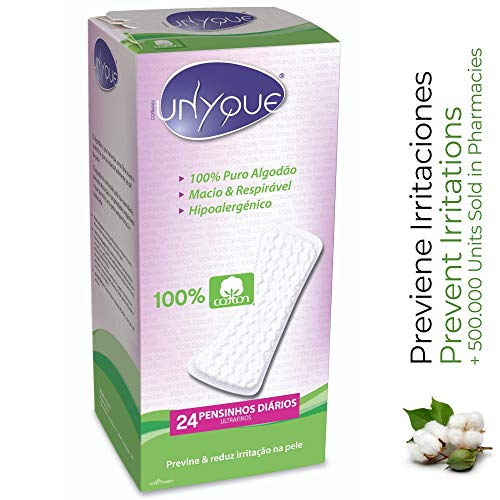 UNYQUE Protege Slips de Algodon Puro 100% – Previene y Reduce Irritaciones...