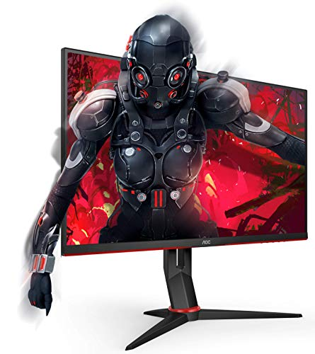 AOC Gaming 24G2U/BK 60 cm (23,8 Zoll) Monitor (FHD, HDMI, DisplayPort, Free-Sync, 1ms Reaktionszeit, 144 Hz, 1920x1080) schwarz/rot - 2