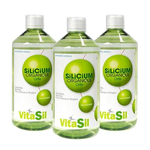 VITASIL - Lot De 3 Silicium Organique Bio-Activé Tripack 500Ml - L'unité