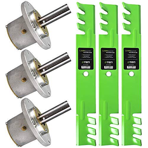 8TEN Spindle Toothed Blade Kit for John Deere 52 Inch Deck Commercial Walk Behind Mower
