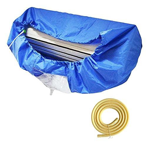 GRTBNH Coperchio per la Pulizia Impermeabile del Condizionatore d'Aria con Tubo dell'Acqua, Borsa per la Raccolta dell'Acqua di Lavaggio del Condizionatore d'Aria Riutilizzabile Montata a Parete