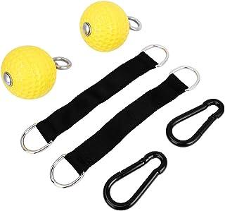 OhhGo الأصفر سحب الذراع قوة التدريب معلقة الكرة رياضة رياضة المنزل اللياقة البدنية معدات الذقن