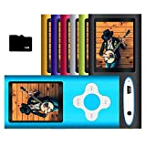 G.G.Martinsen MP3 Player / MP4 Player, MP3 Music Player with 16GB Micro SD Card, Digital LCD 1.8'' Screen, USB Port Support Voice Record, Photo Viewer, E-Book, Video/Media/Music Player-Blue