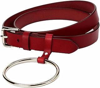 Women's Belt Adjustable Stretch Belt Elegant Womens Slimming Flat Waist Strap Business Casual (Color : Red, Size : 105cm)