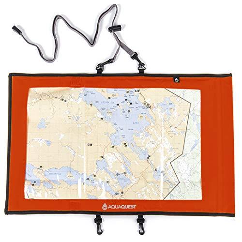 Aqua Quest TRAIL Funda para Mapas - 100% Impermeable - Amarillo o Negro